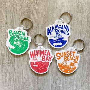 Surf Spot Keychain Set
