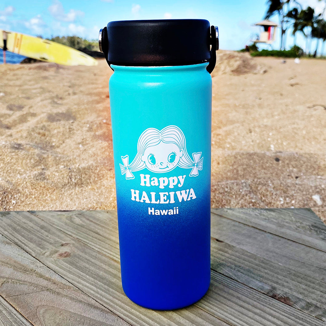 Happy Shave Ice Water Bottle- Vanilla/Blue Hawaii