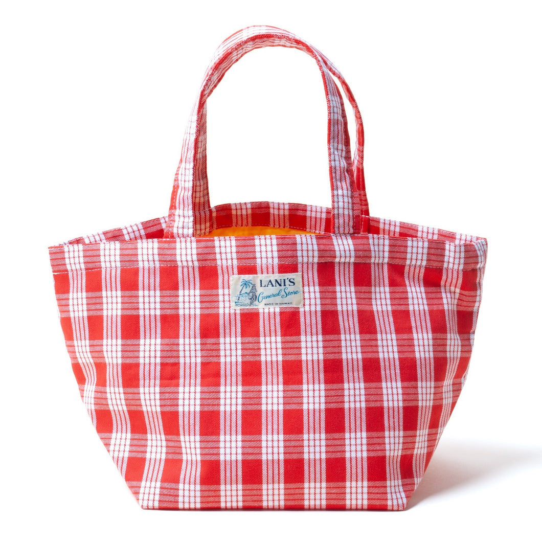 Palaka Mini Tote Bag- Red