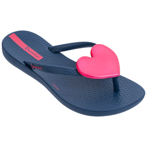 Wave Heart Flip Flop Kids