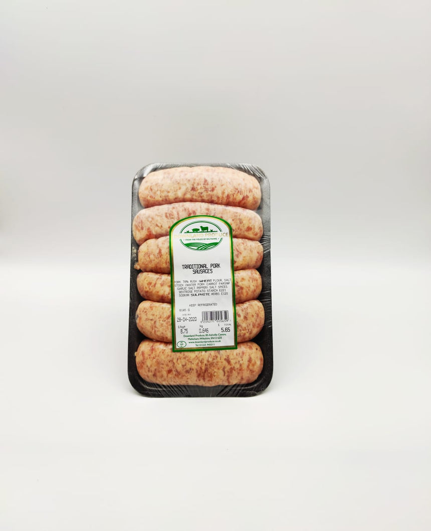 Traditional pork sausages (600g)
