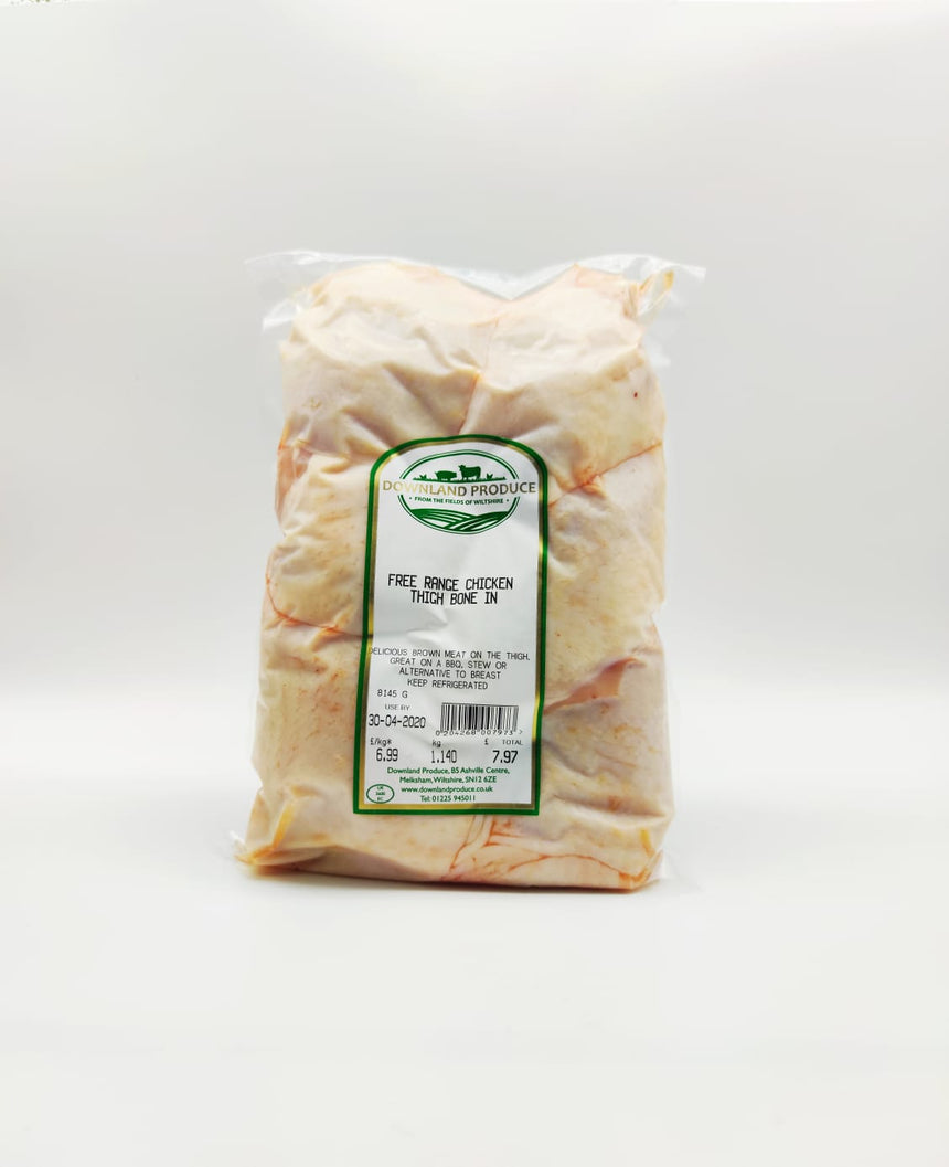 Free range chicken thigh bone in (about 1Kg)