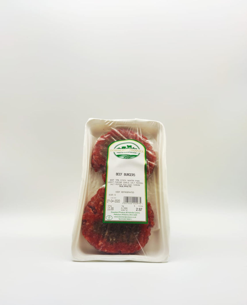 Free range beef burgers (about 300g)