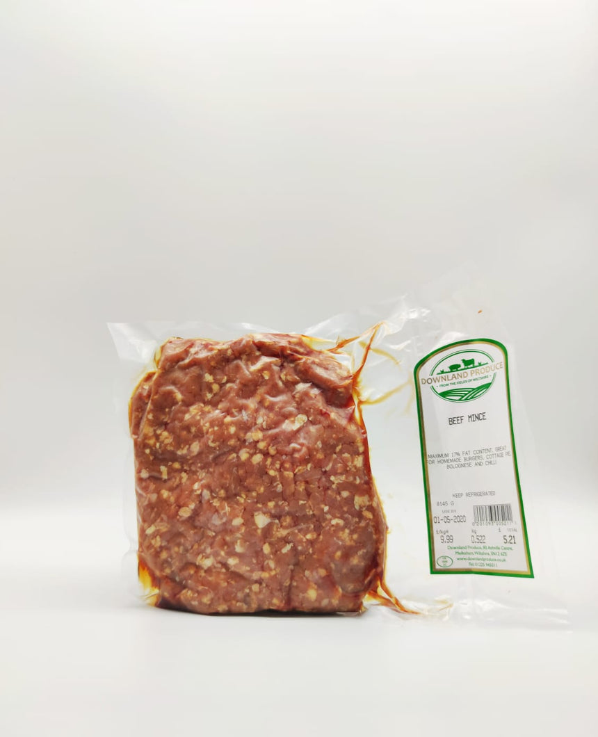 Free range beef mince (about 500g)