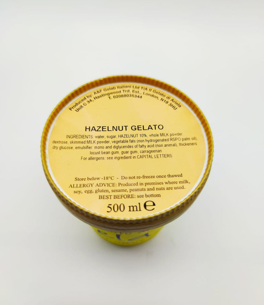 Artisan Hazelnut Gelato 500ml (Only available in London)