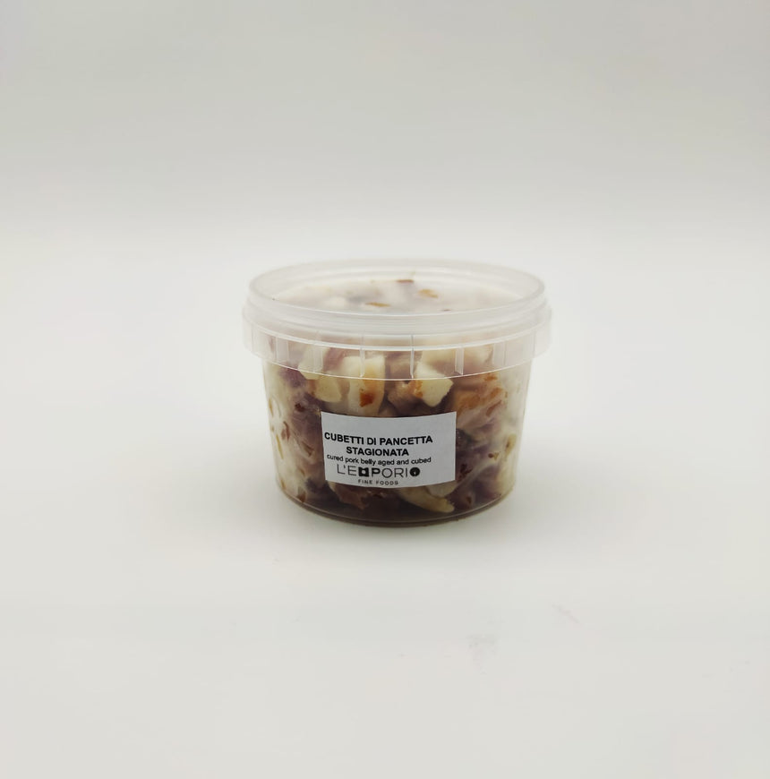 Diced or sliced smoked pancetta tesa 200g