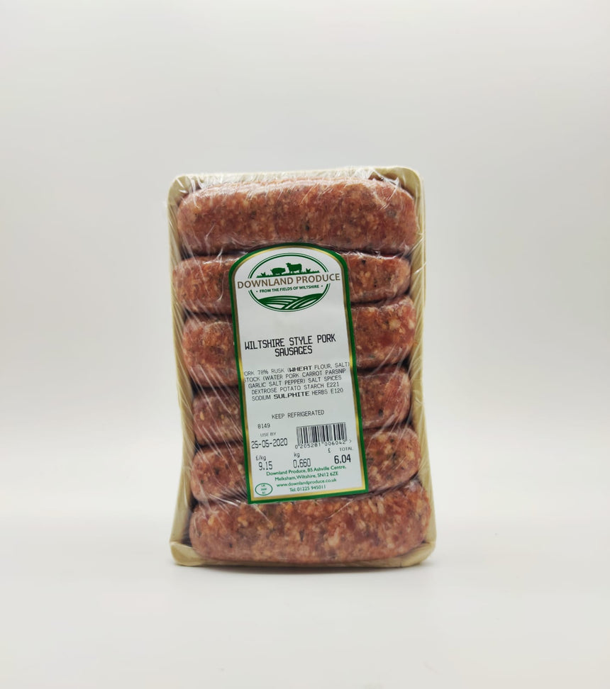 Whiltshire Style Pork Sausages (about 600g)