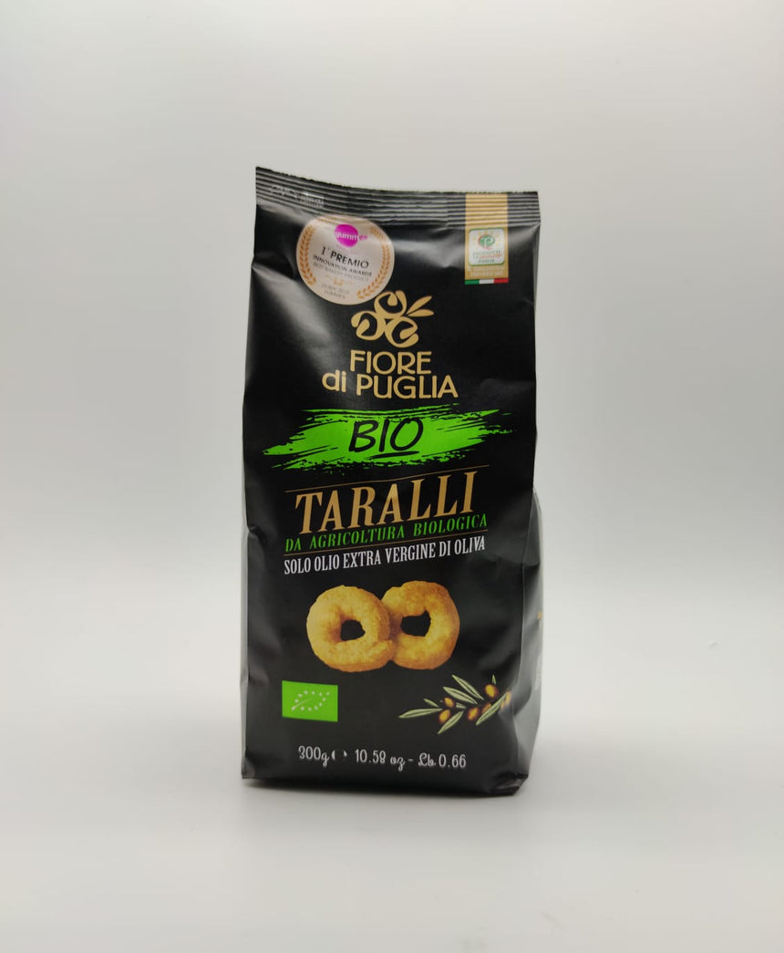 Organic Taralli with extra virgin olive oil - 300g