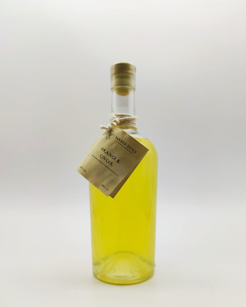 Handmade Orange & Ginger artisan liquor (Sicily) 50cl