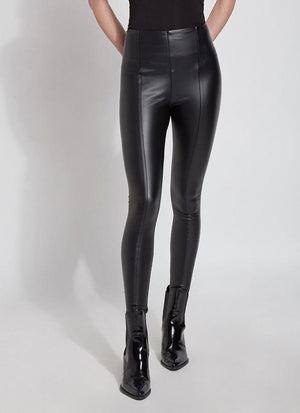 High Waist Vegan Leather Shaper Legging