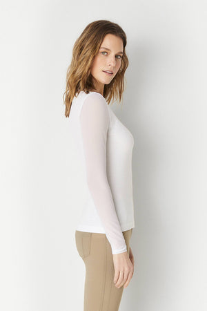 KIM MESH-SLEEVE TOP