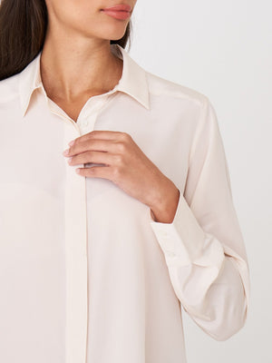 Powder Silk Button Down