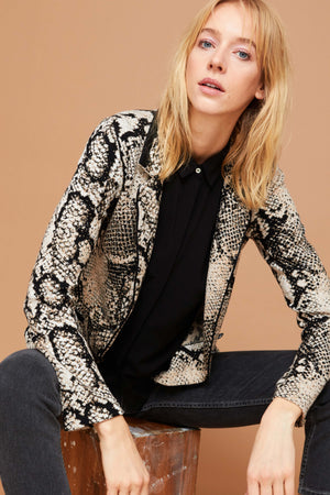 Snake Knit Zip Jacket