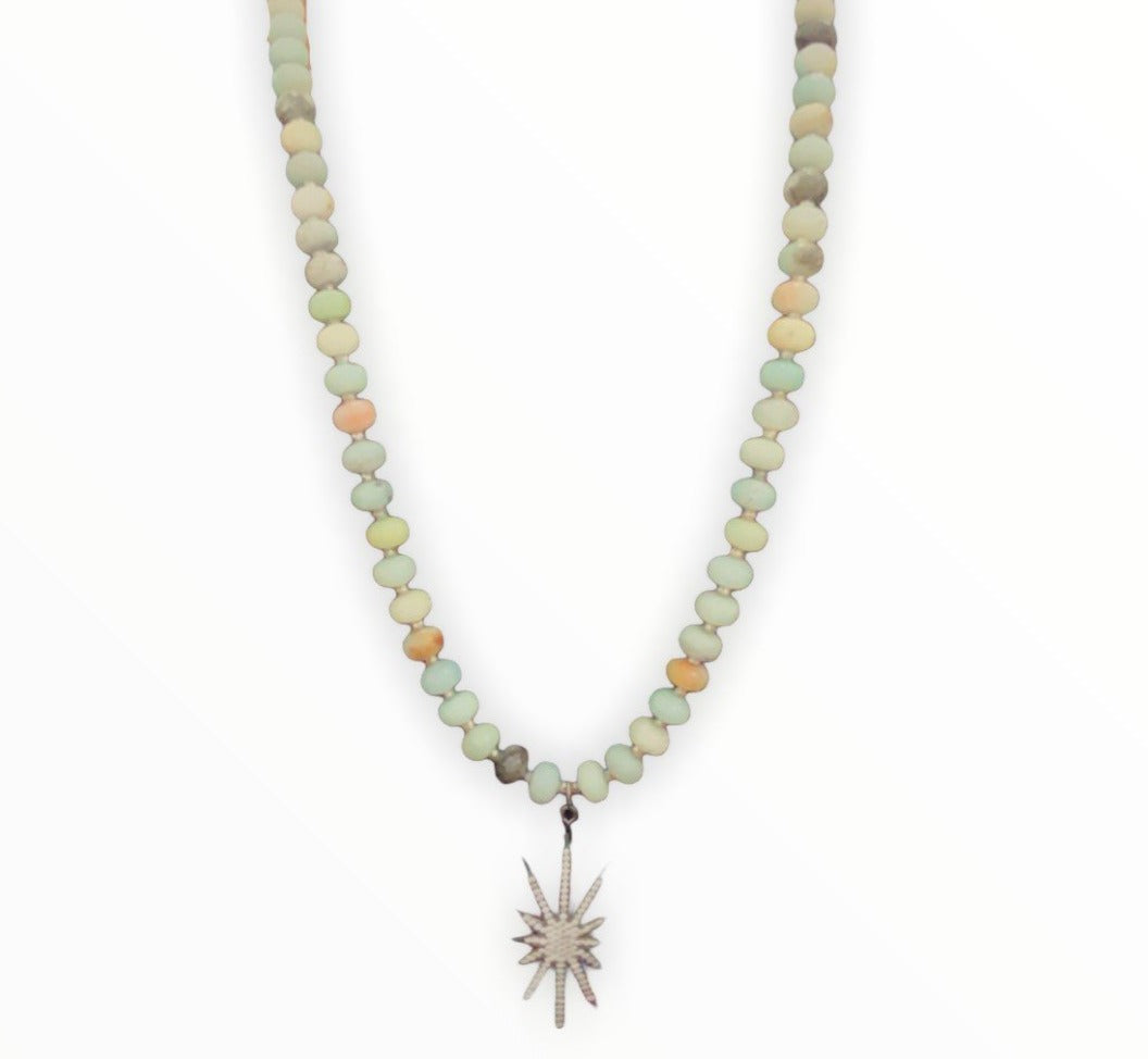 Amazonite Star Necklace