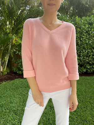 Shaker V Neck Sweater
