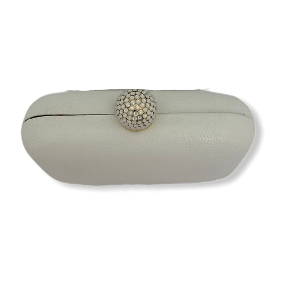 Inge Christopher Pearl Clutch with Gold Chain Shoulder Strap