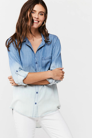 Faded Sky Button-Up Shirt