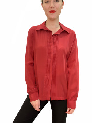 Silk Pleat Shirt