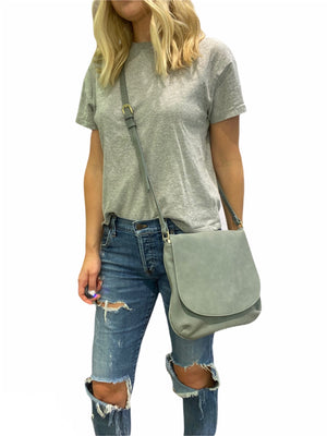 Large Suede Crossbody Bag