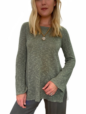 Sweater with Flare Sleeve