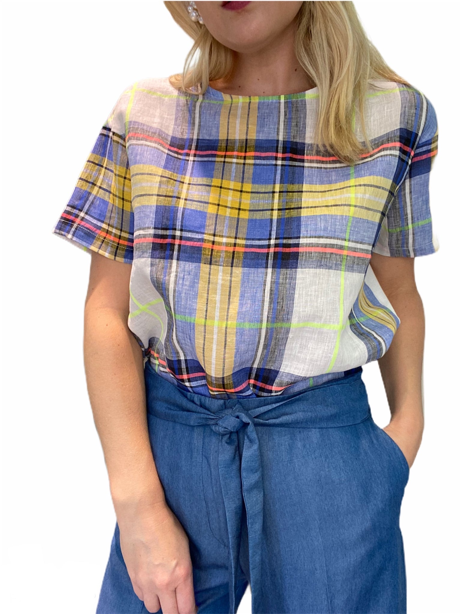 Lysa Plaid T-Shirt