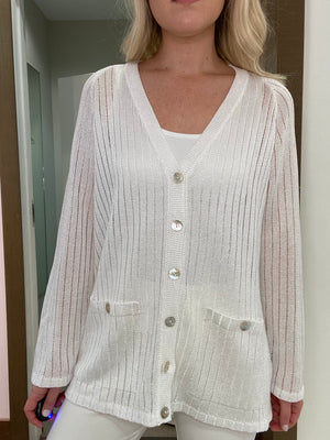 Hand-Loomed Cardigan Sweater