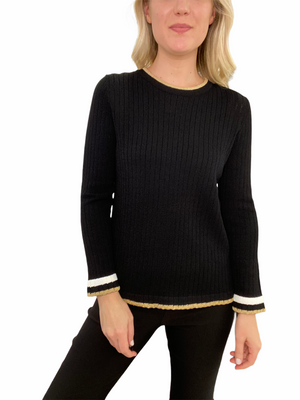 Hand-Loomed Crew Neck Sweater