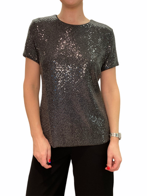 Pewter Sequin Top