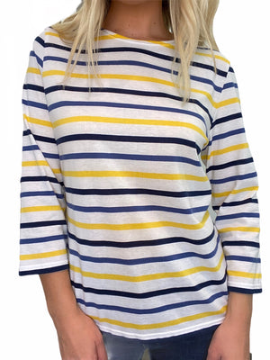 GALTHEE II Cotton Stripe T-Shirt