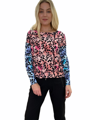 Colorful Leopard Print Sweater