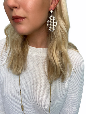 Lace Statement Earring