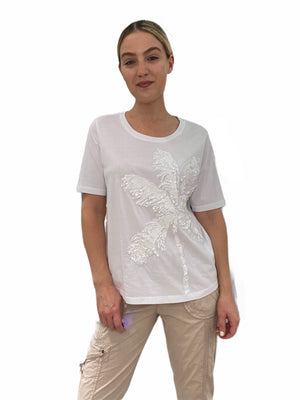 Palm Tree Sequin T-Shirt