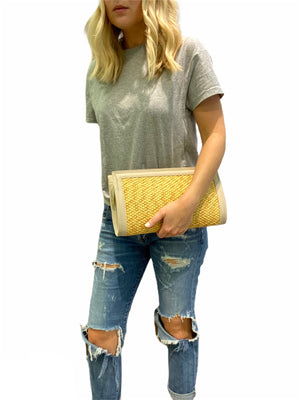 Large Straw Clutch