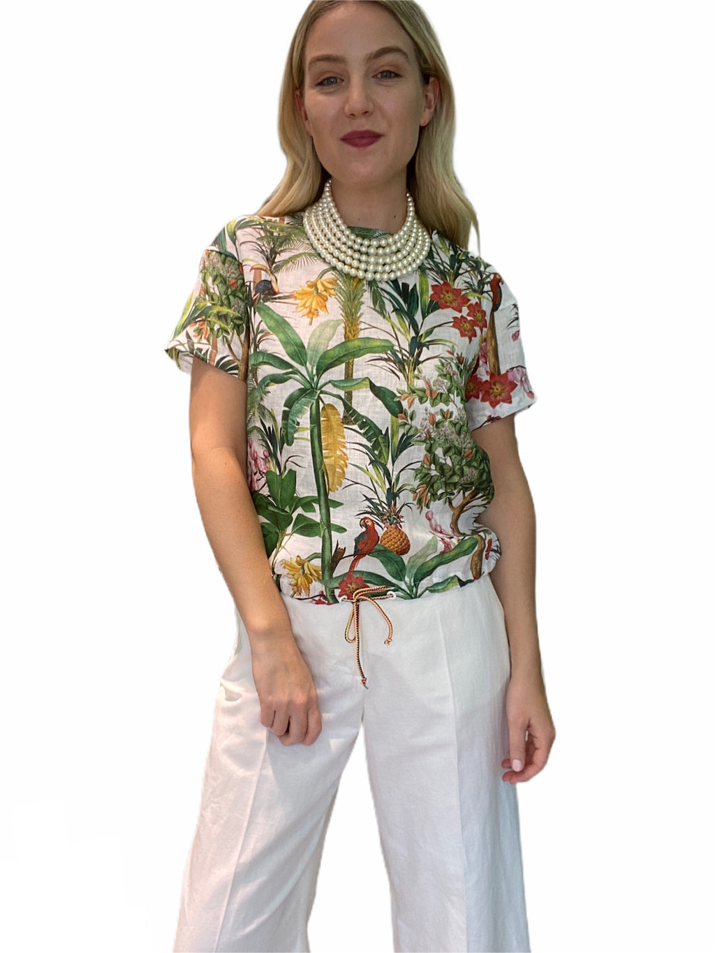 Lysa Tropical Print T-Shirt