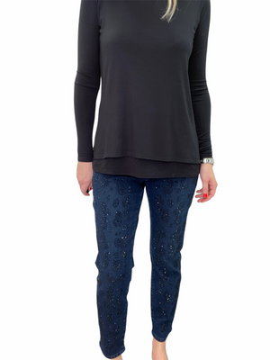 Layer Scoop Neck Top Jersey Top