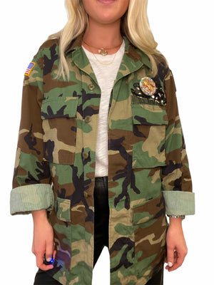 One of a Kind Army Embellished Jacket