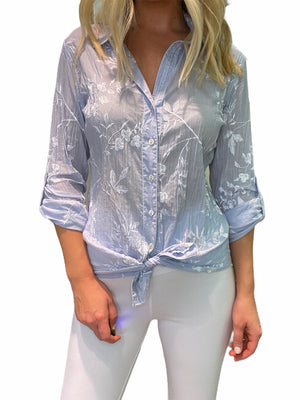 Embroidered Crinkle Shirt