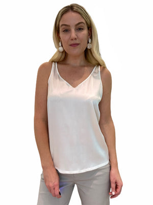Silk V-Neck Sleeveless Tank