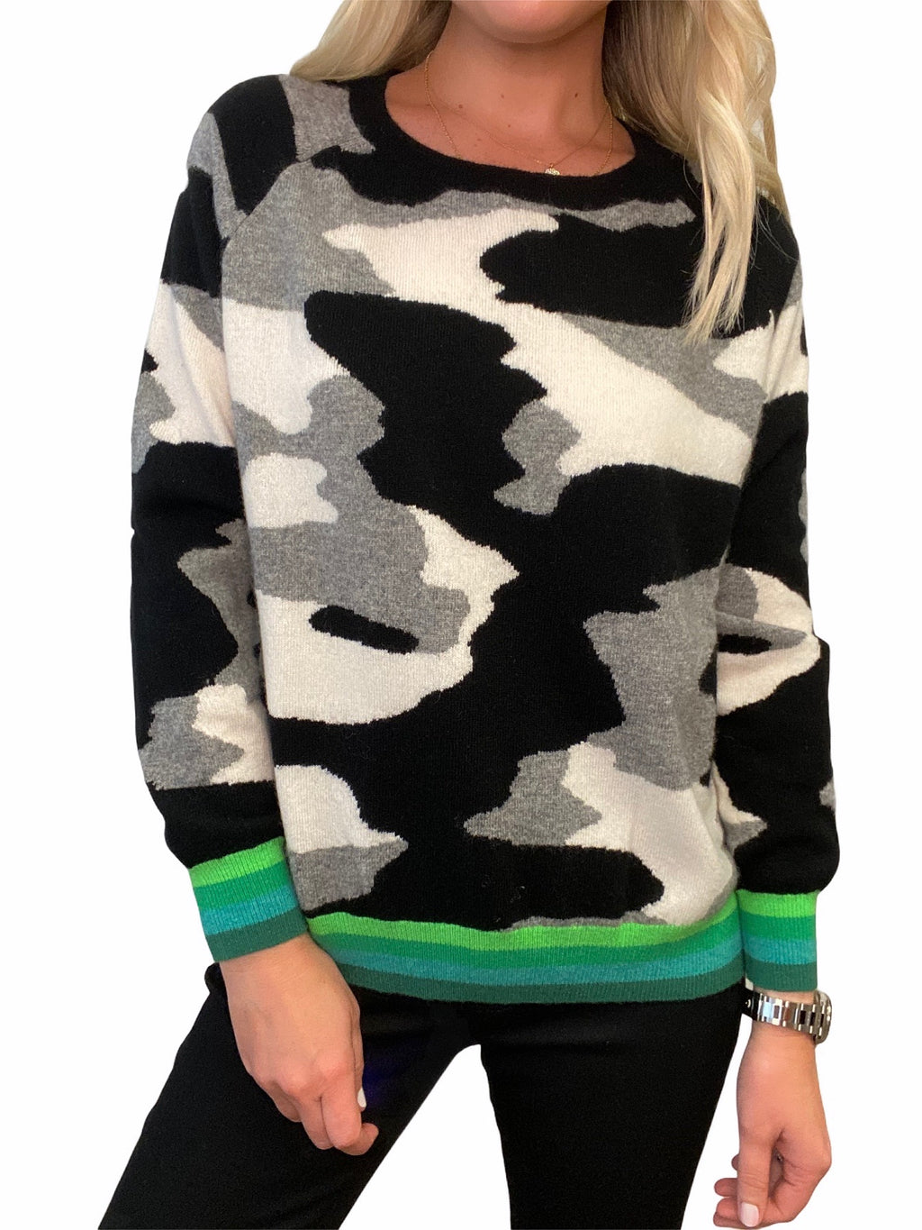 Camo Cashmere Sweater