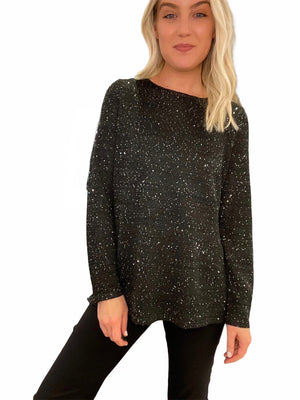 Sequin Hand-Loomed Sweater