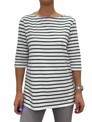 PHARE Boat Neck Striped Tunic