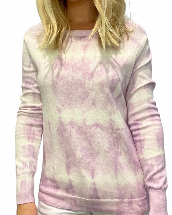 Project Design Lavender and White Tie-Dye Sweater