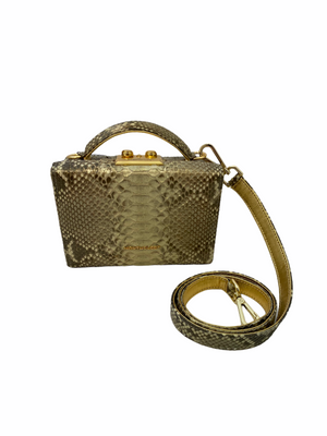 Natural Gold Python Small Crossbody