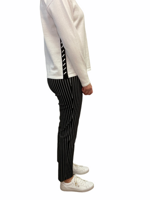 Black Side Stripe Ankle Pant
