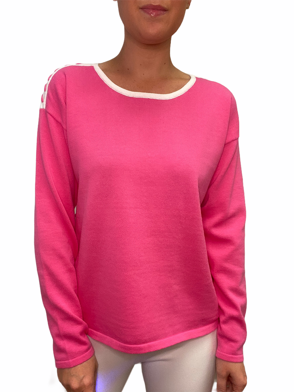 Pink Whip Stitch Sweater