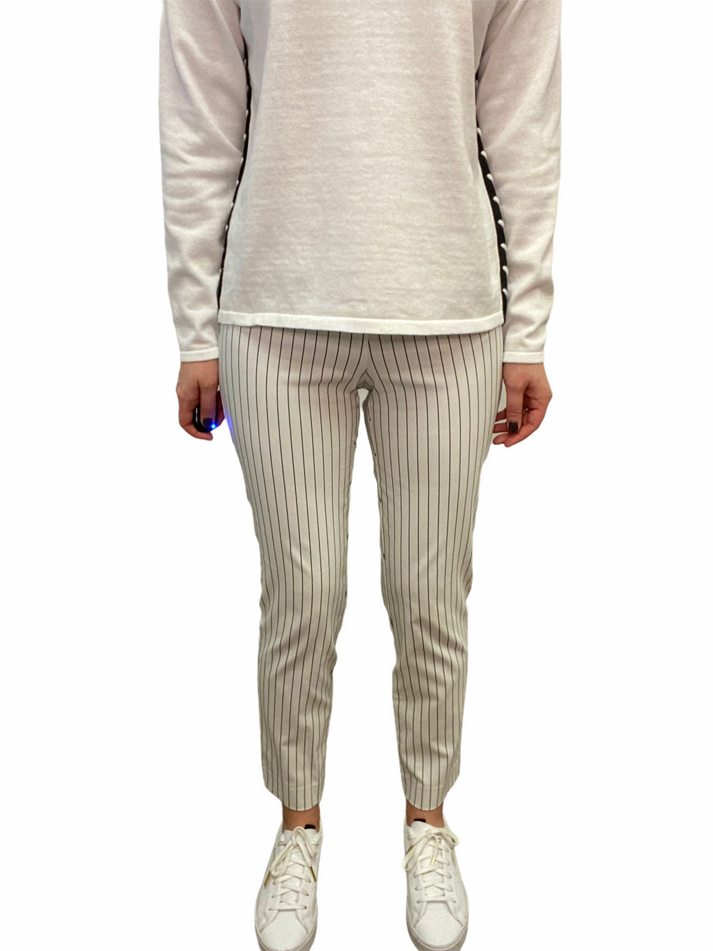 Bleach Side Stripe Ankle Pant