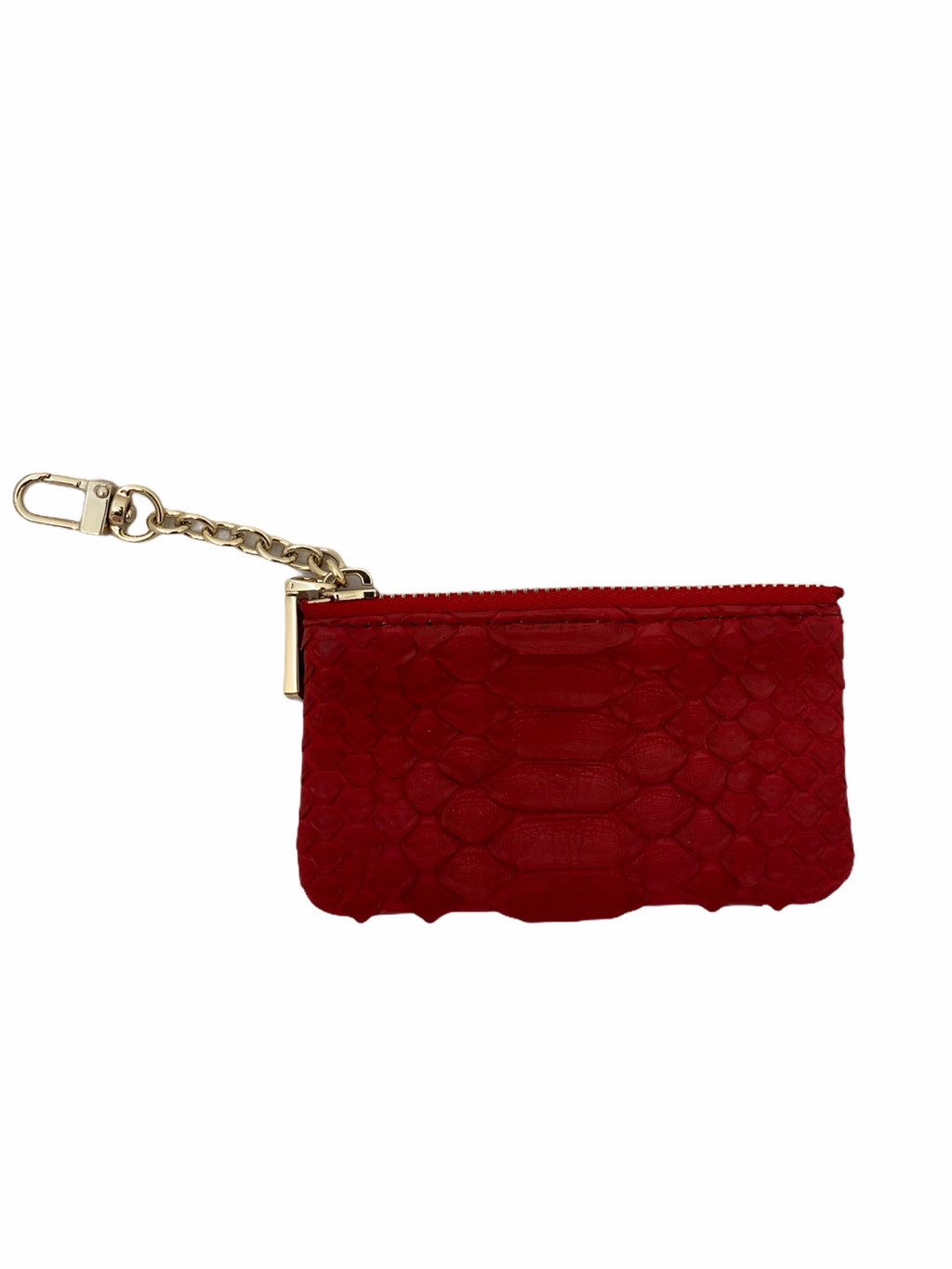 Red Python Key Chain Wallet