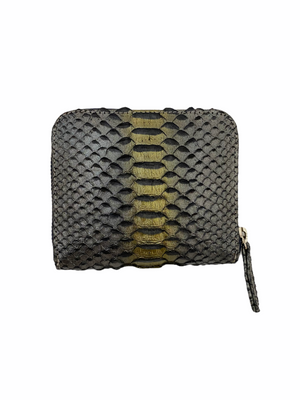 Silver & Gold Python Small Wallet