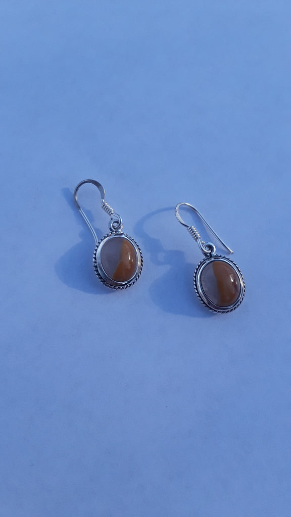Sterling Silver Kentucky Agate Earring
