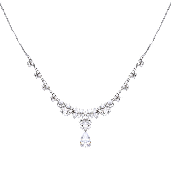 Diamonfire Schliffmix-Collier mit Diamonfire-Zirkonia 63/0967/1/082
